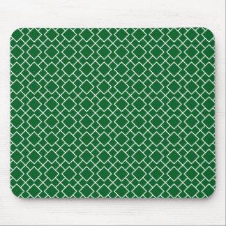 Kleeblatt-grünes geometrisches Muster Pint 8 Mauspads