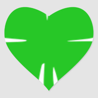 Kleeblatt Herz-Aufkleber
