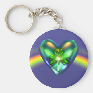 Kleeblatt-Herz St. Patricks Tages Schlüsselanhänger