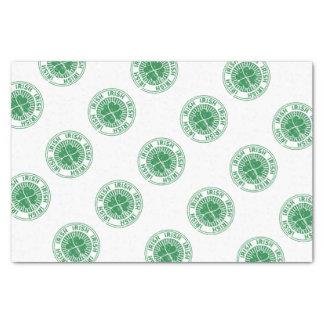 Kleeblatt-Iren-Briefmarke Seidenpapier