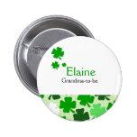 Kleeblatt irischer NAMENSumbau personalisierter Runder Button 5,7 Cm