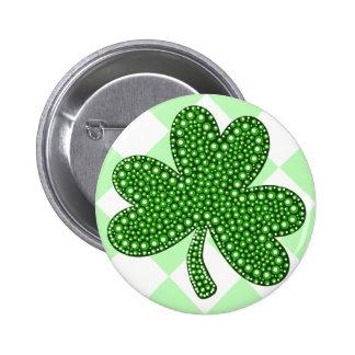 Kleeblatt-Klassiker St. Patricks Tages Runder Button 5,1 Cm
