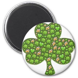 Kleeblatt-Klee-Bier-St Patrick Tag, Pattys Runder Magnet 5,7 Cm