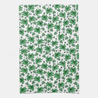 Kleeblatt-Klee-Muster Handtuch