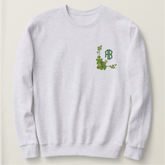 Kleeblatt-Monogramm - fertigen Sie besonders an Besticktes Sweatshirt