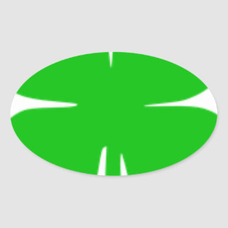 Kleeblatt Ovaler Aufkleber