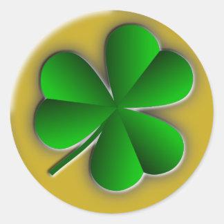 Kleeblatt-runde Aufkleber St. Patricks Tages