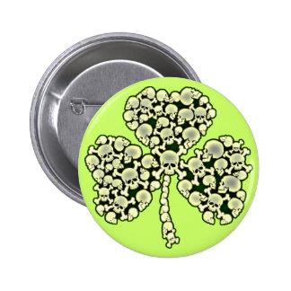 Kleeblatt-Schädel-St Patrick Tag Runder Button 5,7 Cm
