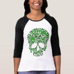 Kleeblatt-Schädel St. Patricks Tages Shirts