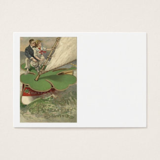 Kleeblatt-Segelboot-Paar-Segeln Jumbo-Visitenkarten