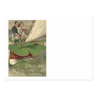 Kleeblatt-Segelboot-Paar-Segeln Mini-Visitenkarten