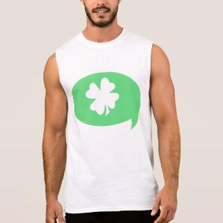 Kleeblatt-Sprache-Blase Ärmelloses Shirt