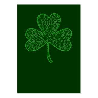 Kleeblatt-St Patrick Tag Visitenkarten Vorlage
