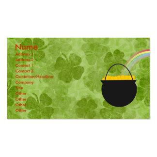 Kleeblatt-St Patrick Tagesgeschäfts-Karten Visitenkarten Vorlage