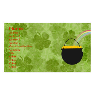 Kleeblatt-St Patrick Tagesgeschäfts-Karten Visitenkarten