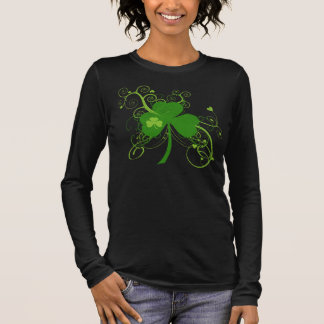 Kleeblatt St. Patricks Tages Langarm T-Shirt