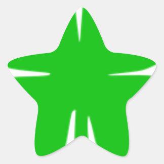 Kleeblatt Stern-Aufkleber