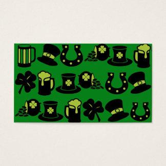 Kleeblatt-Topf St. Patricks TagesGoldgrün-Bier Visitenkarten