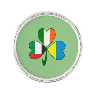 Kleeblatt UAE Ukraine Irland Anstecknadel