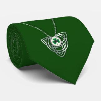 Kleeblatt und keltischer Tag Knoten-St. Patricks Krawatte