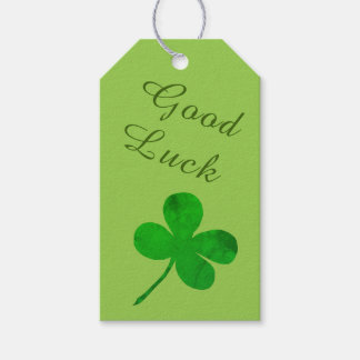 Kleeblatt-viel Glück St. Patricks irisches grünes Geschenkanhänger
