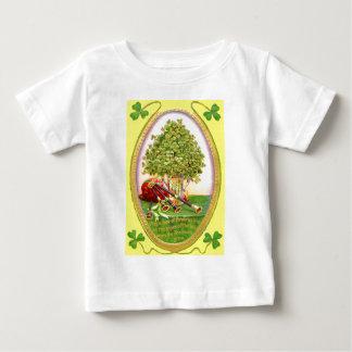Kleeblattbagpipes-Goldgrün Baby T-shirt