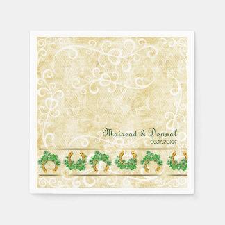 Kleeblätter und Goldirische Papierservietten