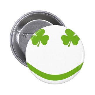 Kleeblattlächeln Runder Button 5,7 Cm
