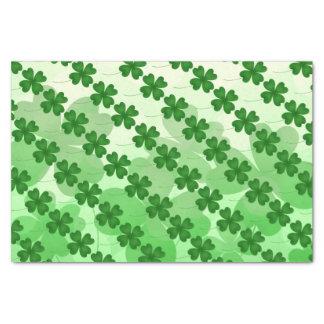Kleeblattmuster St. Patricks Tages Seidenpapier