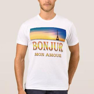 Kleidc$poly-baumwollec$blendt-Shirt-c$bonjour T-Shirt