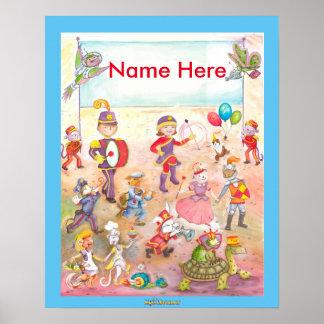 Kleiden Sie oben Parade-Kinderzimmerplakat im Poster