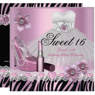 Kleiderlippenstift 2 Zebra-rosa schwarzer 16. Karte
