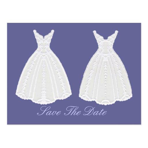 KleiderSave the Date Verpflichtungs-Zeremonie Postkarte