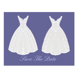 KleiderSave the Date Verpflichtungs-Zeremonie Postkarten