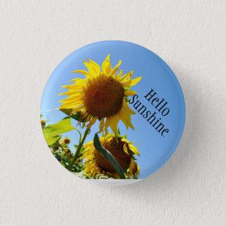 Klein, 1 ¼ Zoll-runder Sonnenblume-Knopf Runder Button 3,2 Cm