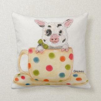 Klein, das Tee-Schalen-Schwein-Kissen Kissen
