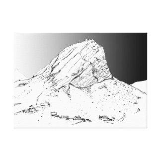 Klein Fall-Klip Berg, Rooiels. Sturm-Himmel Leinwanddruck