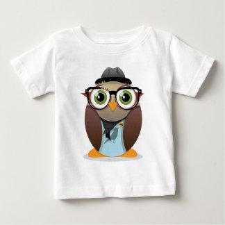 Klein Gedrucktes der Hipster-Eule T-Shirts