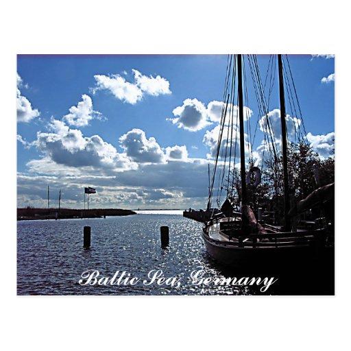 Klein-Hafen, Postkarte der Ostsee-, Deutschland