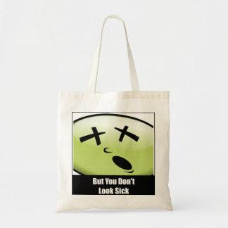 Klein schauen Sie nicht kranke Tasche