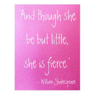 Kleine aber heftige Shakespeare-Zitat-Postkarte Postkarte