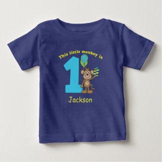 Kleine Affe-Kinder1. Geburtstag GEWOHNHEIT Baby T-shirt