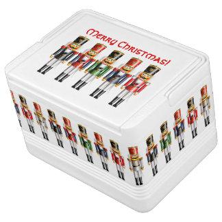 Kleine Armee von Weihnachtsnussknackern Igloo Kühlbox