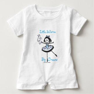 Kleine Ballerina - große Träume Baby Strampler