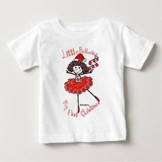 Kleine Ballerina - mein erstes Weihnachten Baby T-shirt