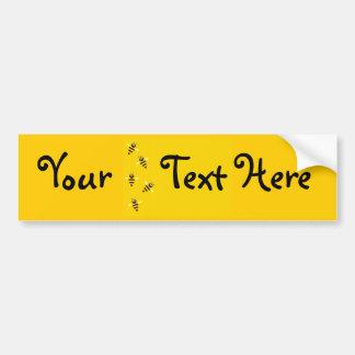 Kleine Bienen Autoaufkleber