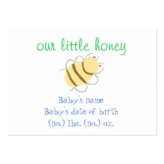 Kleine Bienen-Taschen-Geburtsmitteilung Mini-Visitenkarten