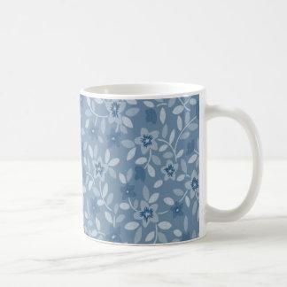 Kleine blaue Blumen Teetasse