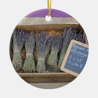 Kleine Blumensträuße des Lavendels Keramik Ornament
