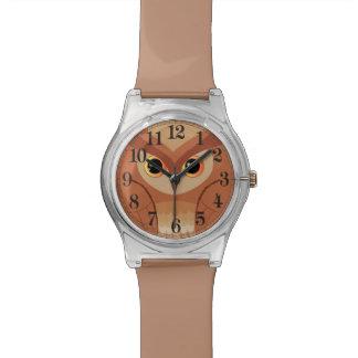 Kleine braune Eule Uhren